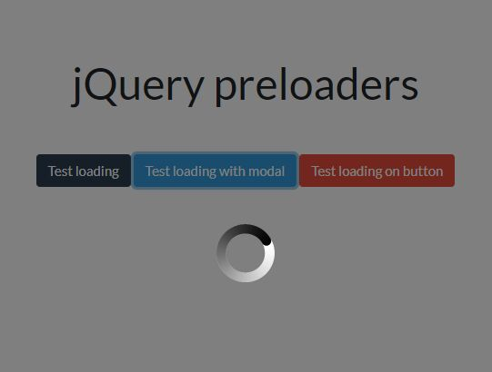 15+【UPDATED】JQuery Loading Spinner Plugins