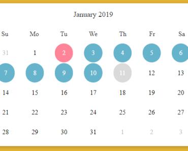 20+【UPDATED】VueJs Calendar Components