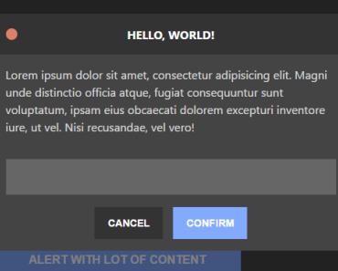 Promise-based Modal Dialog Helper For Vue js | VueJs Component